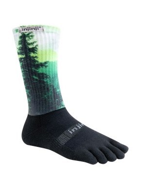 Injinji - Spectrum Trail 2.0 Midweight crew - Forest Spectrum